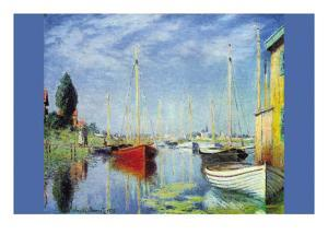 Pleasure Boats At Argenteuil by Claude Monet