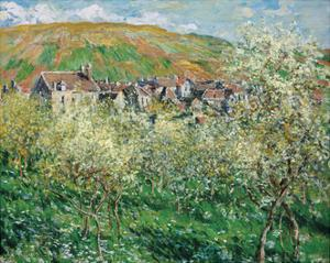 Plum Trees in Blossom, 1879 by Claude Monet