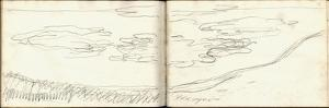 Pond with Water Lilies (Pencil on Paper) by Claude Monet