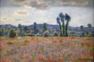 Poppy Field, 1887 by Claude Monet