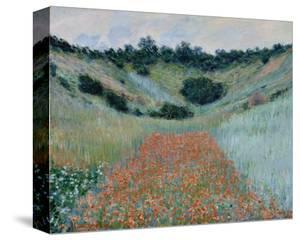 Poppy Field in a Hollow Near Giverny, 1885 by Claude Monet