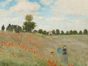 Poppy Field, Near Argenteuil, c.1873 by Claude Monet