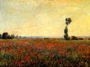 Poppy Landscape by Claude Monet