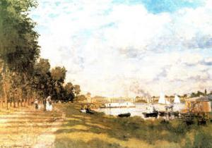 Promenade a Argenteuil by Claude Monet
