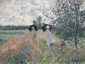 Promenade Pres D'Argenteuil by Claude Monet