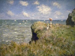 Promenade sur la falaise à Pourville by Claude Monet