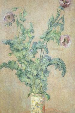 Purple Poppies by Claude Monet