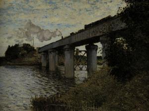 Railway Bridge at Argenteuil, c.1873 by Claude Monet