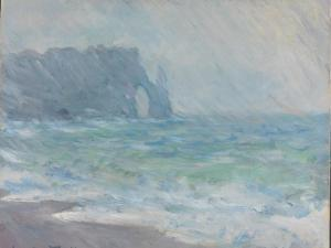 Rain in Étretat by Claude Monet