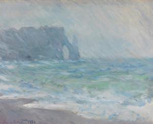 Rainfall, Etretat, 1886 by Claude Monet