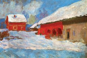 Red Houses by Claude Monet