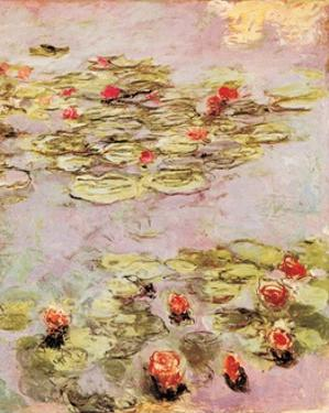 Red Nympheas by Claude Monet