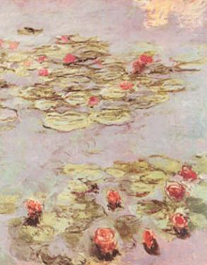 Red Water Lilies by Claude Monet