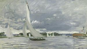 Regatta at Argenteuil, 1872 by Claude Monet