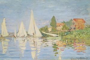 Regatta at Argenteuil, C. 1872 by Claude Monet