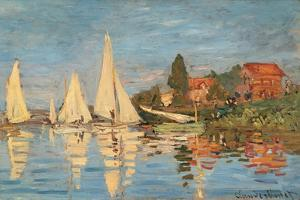 Regatta at Argenteuil, Monet Claude, 1872. Musee d'Orsay, Paris, France. by Claude Monet