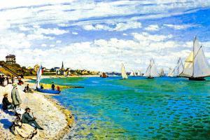 Claude Monet Regatta at Saint Adresse
