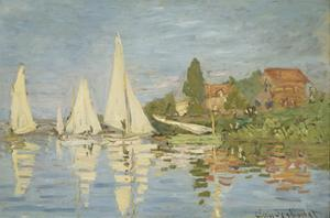Regattas at Argenteuil, c.1872 by Claude Monet