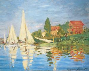Regattas in Argenteuil by Claude Monet