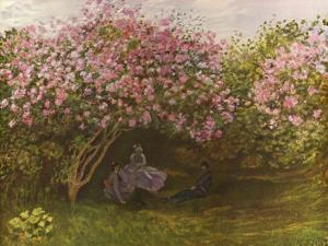 Resting Under the Lilacs by Claude Monet