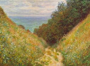 Road At La Cavee by Claude Monet