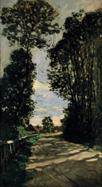 Road of the Farm Saint-Simeon by Claude Monet