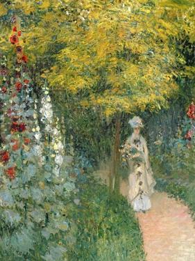Rose Garden, 1876 by Claude Monet