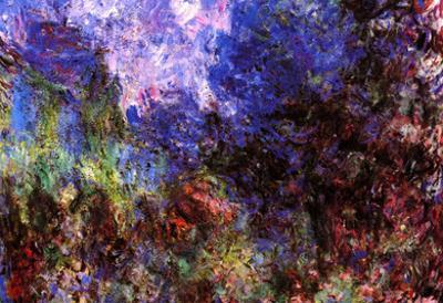 Claude Monet Roses at the Garden Side of Monet's House in Giverny Art Print Poster