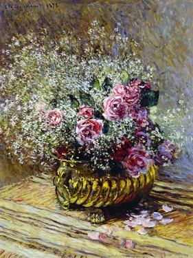 Roses in a Copper Vase, 1878 by Claude Monet