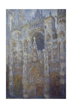 Rouen Cathedral, Blue Harmony, Morning Sunlight, 1893 by Claude Monet