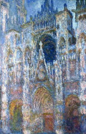 Rouen Cathedral, Blue Harmony, Morning Sunlight, 1894 by Claude Monet