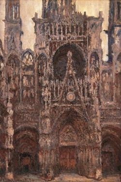 Rouen Cathedral, Evening Effect, Harmony in Brown by Claude Monet