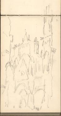 Rouen Cathedral Facade, C.1892 (Pencil on Paper) by Claude Monet