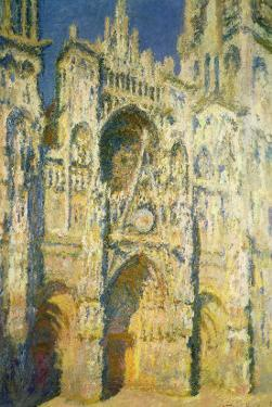 Rouen Cathedral in Full Sunlight: Harmony in Blue and Gold, 1894 by Claude Monet