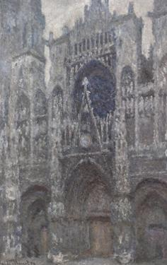 Rouen Cathedral, Portal, Grey Weather by Claude Monet by Claude Monet