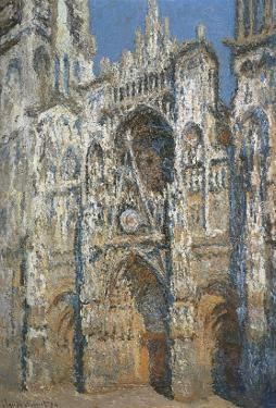 Rouen Cathedral, the Portal and the Tower of Saint-Romain, Morning Effect, Harmony in White by Claude Monet