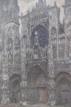 Rouen Cathedral. the Portal, Grey Weather, 1892 by Claude Monet