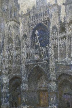 Rouen Cathedral, the Portal; Grey Weather, 1892 by Claude Monet