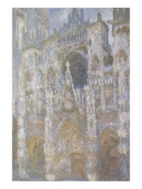 Rouen Cathedral, the Portal, Harmony Blue Morning Sun by Claude Monet