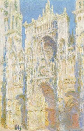 Rouen Cathedral, West Fa§Ade, Sunlight by Claude Monet by Claude Monet