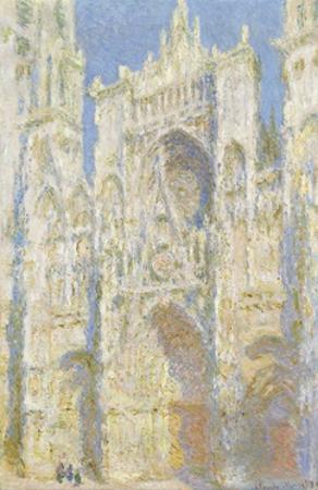 Rouen Cathedral, West Facade, Sunlight, 1894 by Claude Monet