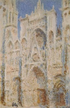 Rouen Cathedral, West Façade, Sunlight by Claude Monet