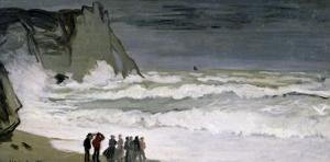 Rough Sea at Etretat, 1868-69 by Claude Monet