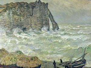 Rough Sea at Etretat, 1883 by Claude Monet