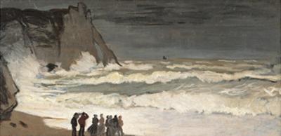 Rough Sea at Etretat by Claude Monet