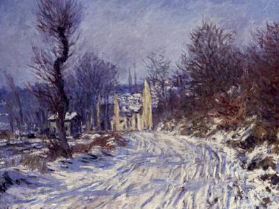 Route de Giverny en Hiver, 1885 by Claude Monet