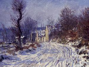 Route de Giverny en Hiver, 1885 by Claude Monet
