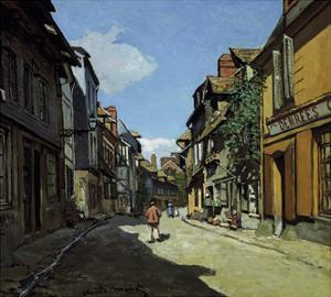 Rue de la Bavole, Honfleur, c.1864 by Claude Monet