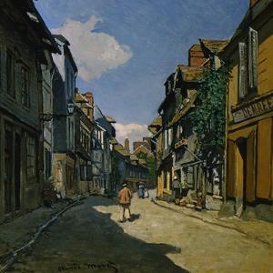 Rue de la Bavolle, Honfleur by Claude Monet