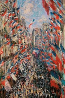Rue Montorgueil, Paris, Festival of June 30, 1878 by Claude Monet